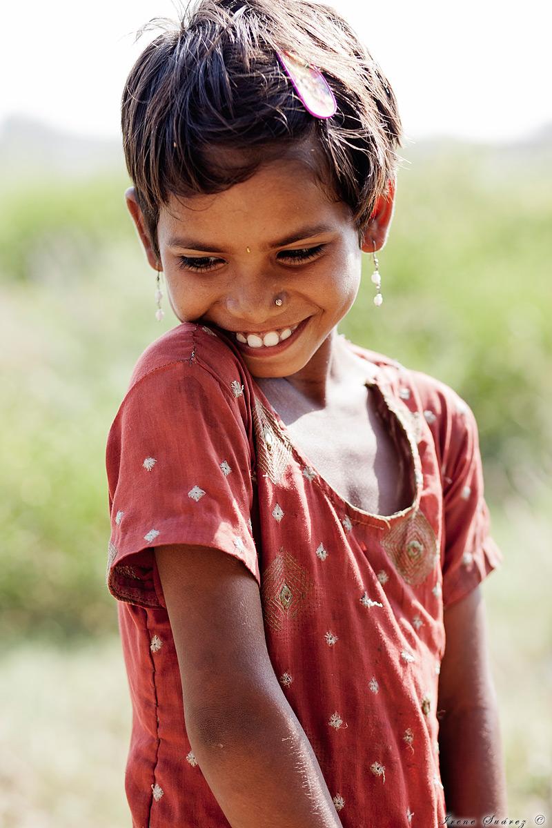 Retrato niña india