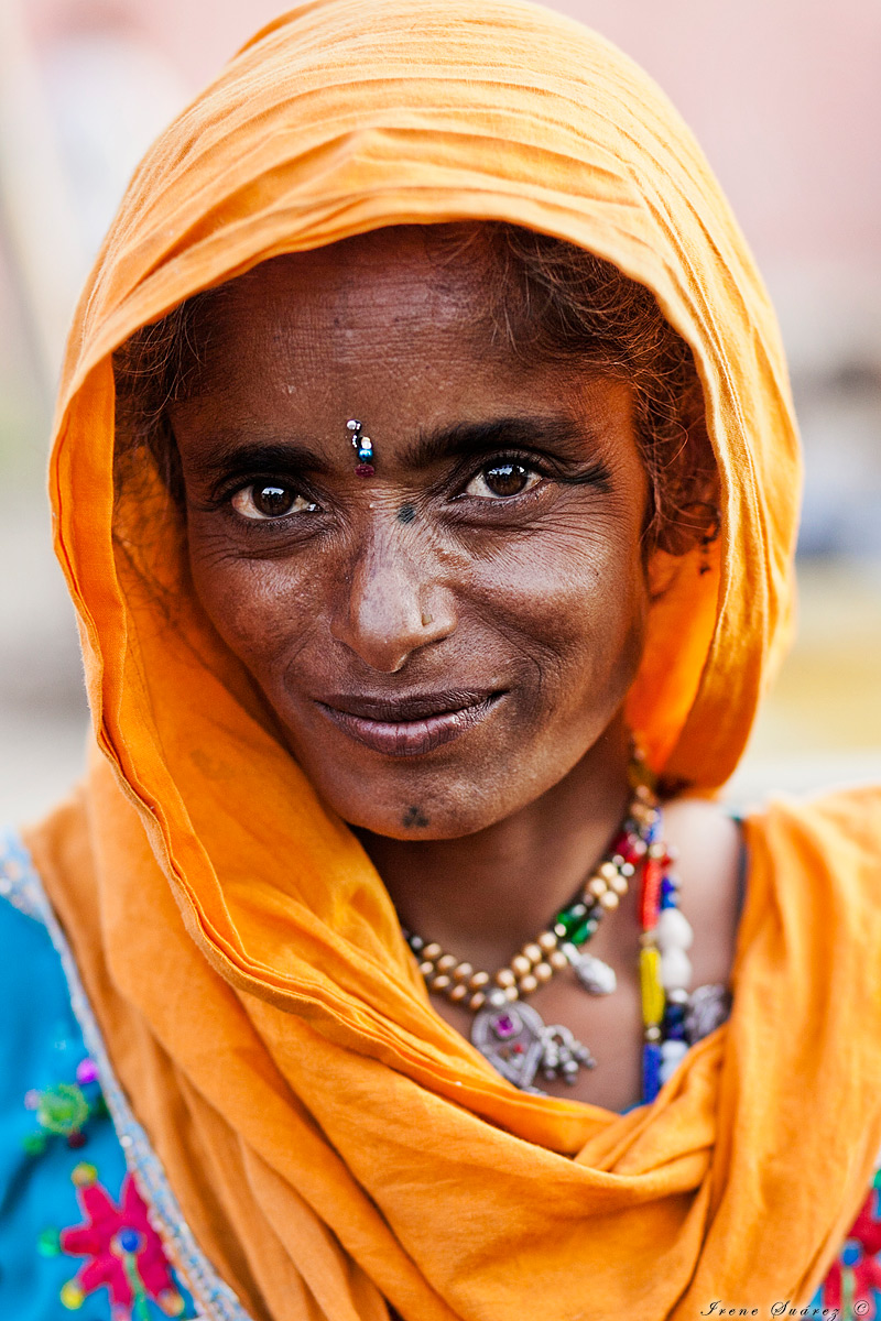 Retrato espectacular mujer indu